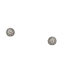 Sethi Couture - White Diamond Pave White Gold Stud Earrings