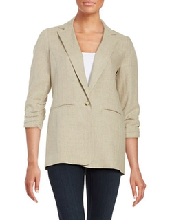 Michael Michael Kors  - Linen On Button Blazer