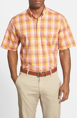Cutter & Buck  - Golden Garden Plaid Classic Fit Short Sleeve Sport Shirt