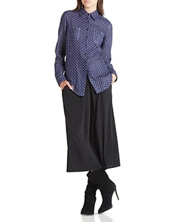 Bcbgeneration - Polka Dot Chambray Shirt