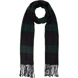 River Island - Navy Check Brushed Woven Scarf