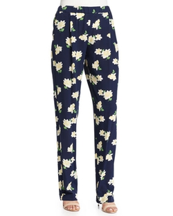 Michael Kors Collection - Floral-Print Pajama-Style Pants