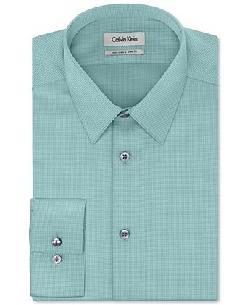 Calvin Klein  - STEEL Solid Tonal Dobby Dress Shirt