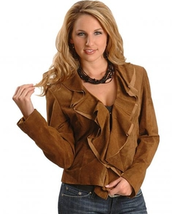 Scully - Ruffled Suede Jacket