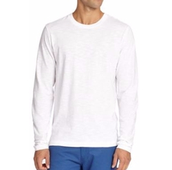 Saks Fifth Avenue Collection  - Long-Sleeved Cotton Tee
