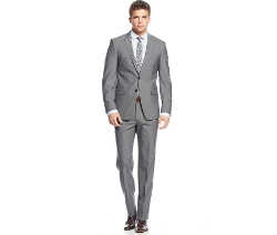 DKNY - Solid Grey Extra Slim-Fit Suit