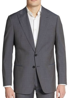 Armani Collezioni  - Regular-Fit Melange Virgin Wool Suit