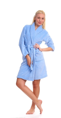 Emily Stacy - Fluffy And Warm Bathrobe