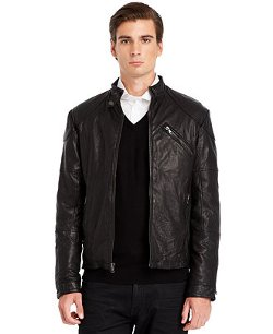 Kenneth Cole - Leather Moto Jacket