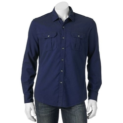 Apt. 9 - Brushed Roll-Tab Button-Down Shirt