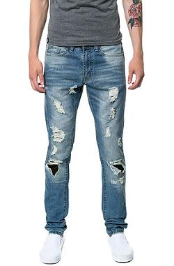Embellish  - The Ripped Standard Denim in Blue