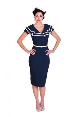 Tatyana - Captain Pencil Navy Dress