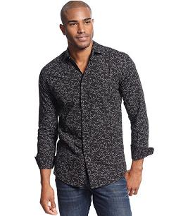 Cultura  - Torres Long Sleeve Printed Shirt