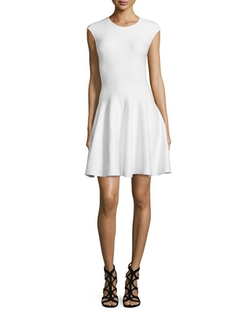 RVN - Cap-Sleeve Fit & Flare Dress