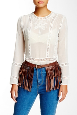 Streets Ahead - Italian Leather Fringe Belt