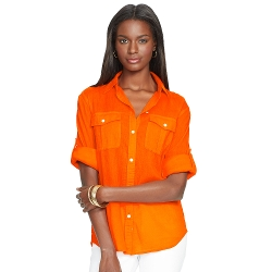Ralph Lauren - Crinkled Cotton Gauze Shirt