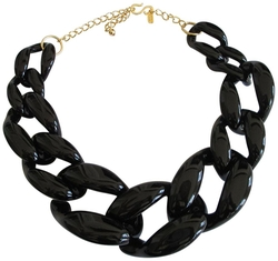 Kenneth Jay Lane - Resin Graduated Link Necklace