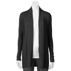 Croft & Barrow - Ribbed Open-Front Cardigan