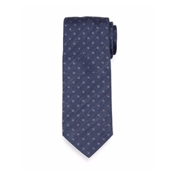 Brioni  - Chambray Flower-Print Neat Silk Tie