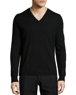 Burberry Brit  - Dockley Wool V-Neck Sweater
