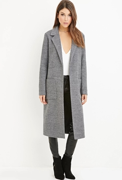 Forever21 - Collared Longline Overcoat