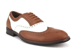 Ferro Aldo  - Wing Tip Two Tone Balmoral Oxford Shoes