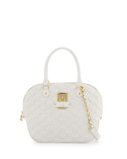 Betsey Johnson   - Always Be Mine Faux-Leather Dome Satchel Bag