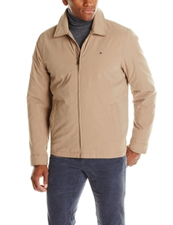 Tommy Hilfiger  - Micro-Twill Open-Bottom Zip-Front Jacket