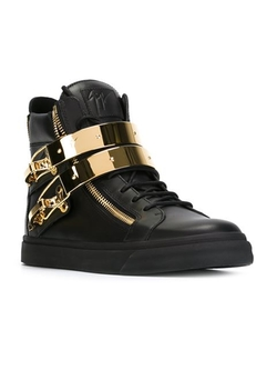Giuseppe Zanotti Design - Zip Detail Hi-Top Sneakers