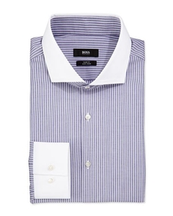 Boss Hugo Boss  - Slim Fit Striped Dress Shirt