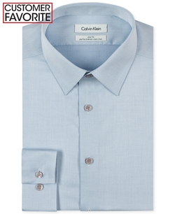 Calvin Klein - Steel Non-Iron Slim-Fit Solid Performance Dress Shirt