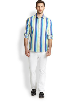 Robert Graham  - Como Striped Cotton Sportshirt