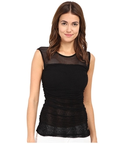 Versace Collection - Mesh Jersey Top