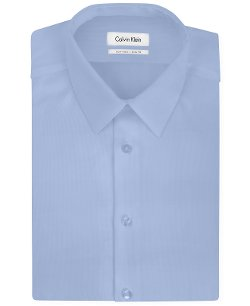 Calvin Klein STEEL - Slim-Fit Non-Iron Textured Solid Dress Shirt