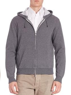 Brunello Cucinelli - Long Sleeve Hooded Jacket