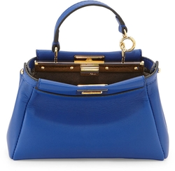Fendi - Peekaboo Micro Leather Satchel Bag