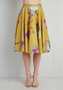 ModCloth - Ikebana for All Skirt in Floral