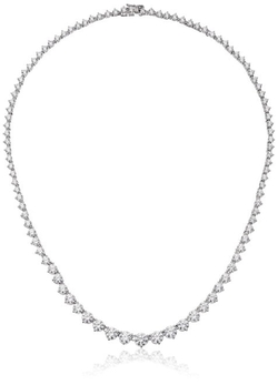 Myia Passiello  - Timeless Riviera Round Cut White Necklace