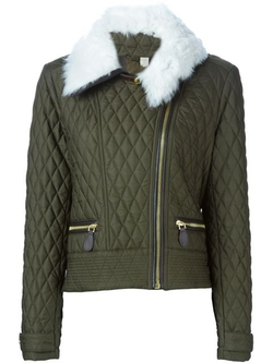 Burberry Brit - Shearling Collar Quilted Jacket