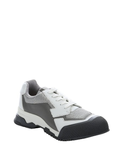 Prada - Leather And Mesh Athletic Sneakers