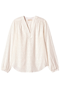 Rebecca Taylor - Long Sleeve Geo Fil Coupe Top