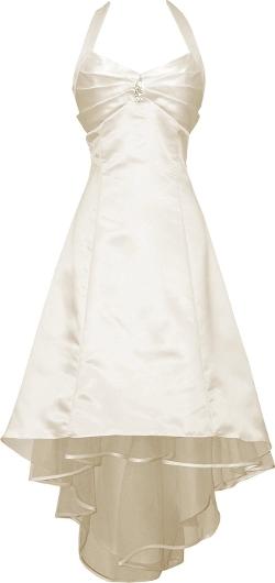 PacificPlex - Satin Halter Prom Dress