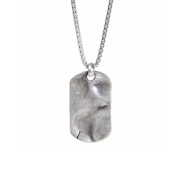 Degs And Sal - Hammered Dog Tag Necklace