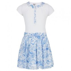 Jottum - White Jersey Dress With Ruffled Skirt
