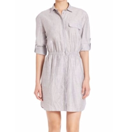 ATM Anthony Thomas Melillo - Softly Crinkled Shirtdress
