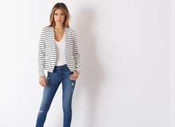 Dynamite Clothing - Striped Jacquard Blazer