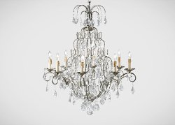 Ethan Allen - Eight Light Olympia Chandelier