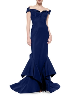Zac Posen - Off-The-Shoulder Bow-Detailed Gown