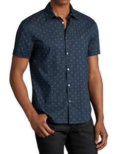 John Varvatos Star USA - Skull Print Slim Fit Button Down Shirt