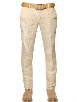 Etro  - Striped Linen&alcantara Western Trousers